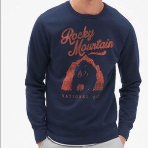 GAP Navy Blue Graphic Bear Crewneck Sweatshirt